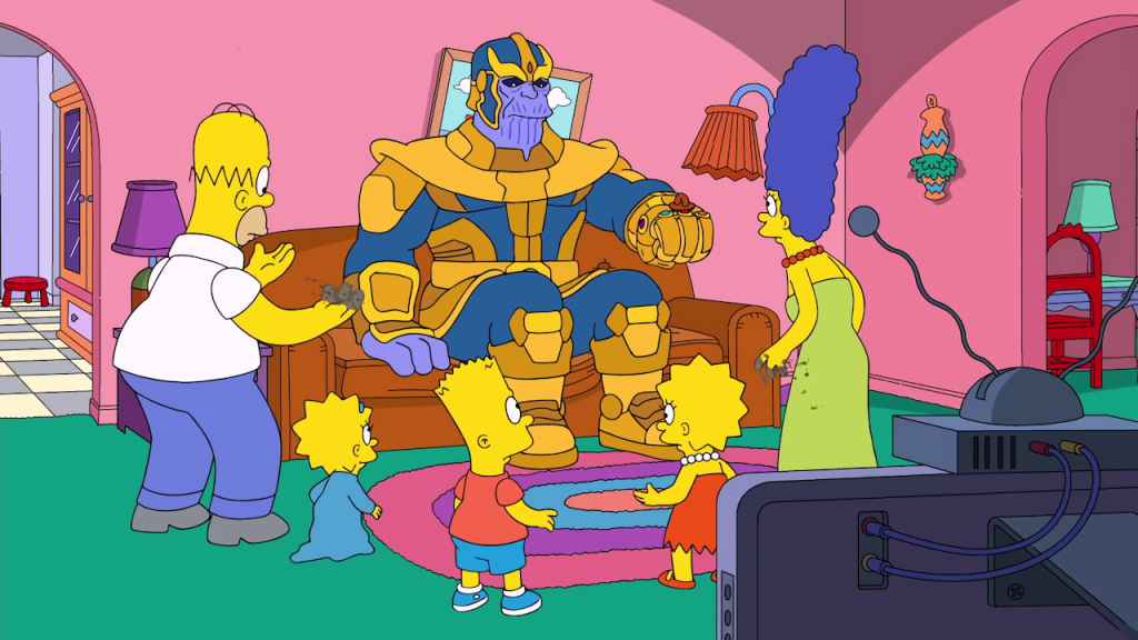Thanos Visits The Simpsons _ Season 30 Ep. 12