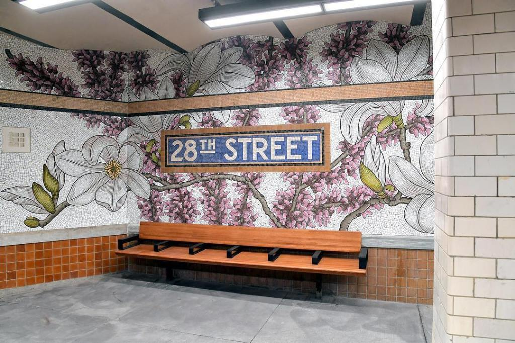 28th Street Floral Mosaic Nancy Blum