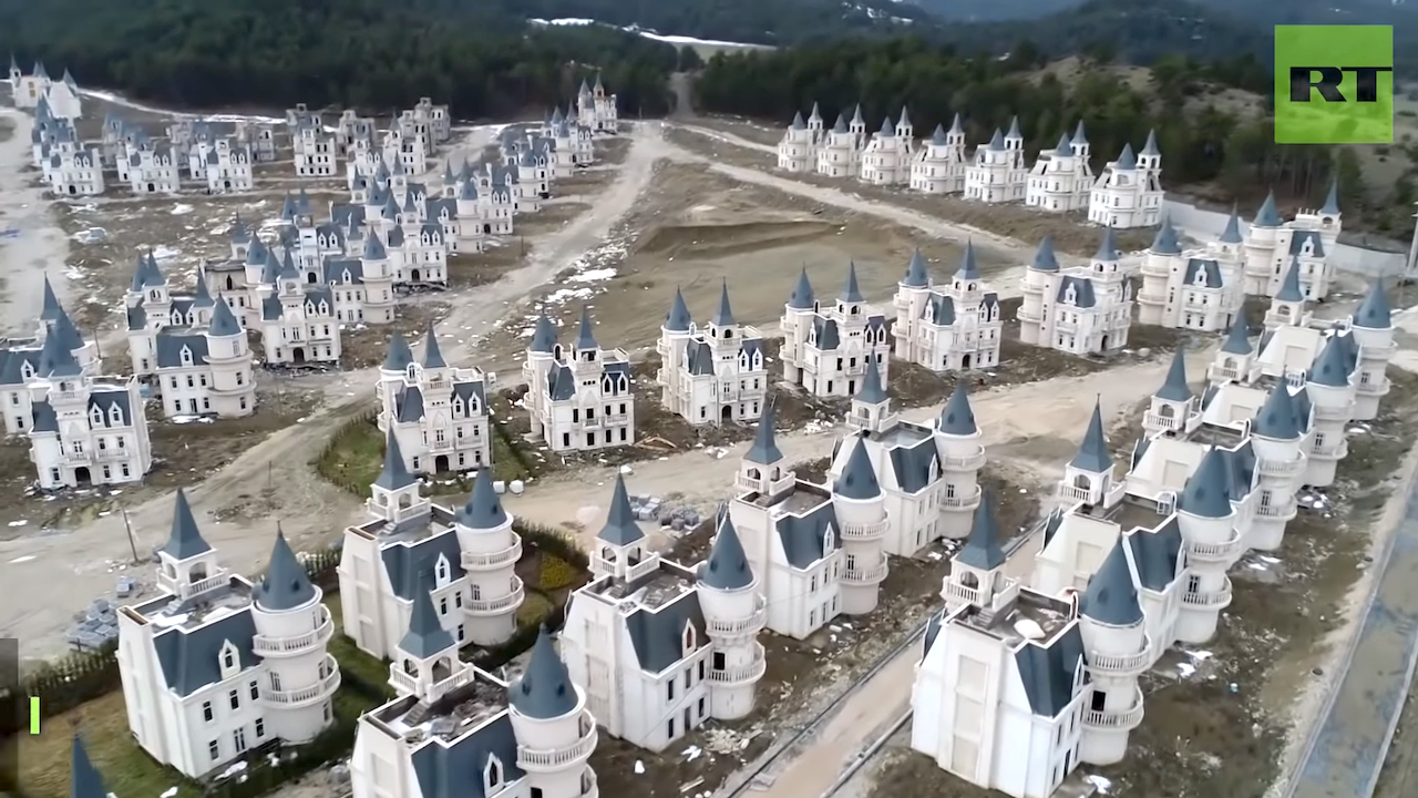 An Entire Village of Miniature Disney-Esque Castles Sits Empty in the Bolu Province of Northern Turkey