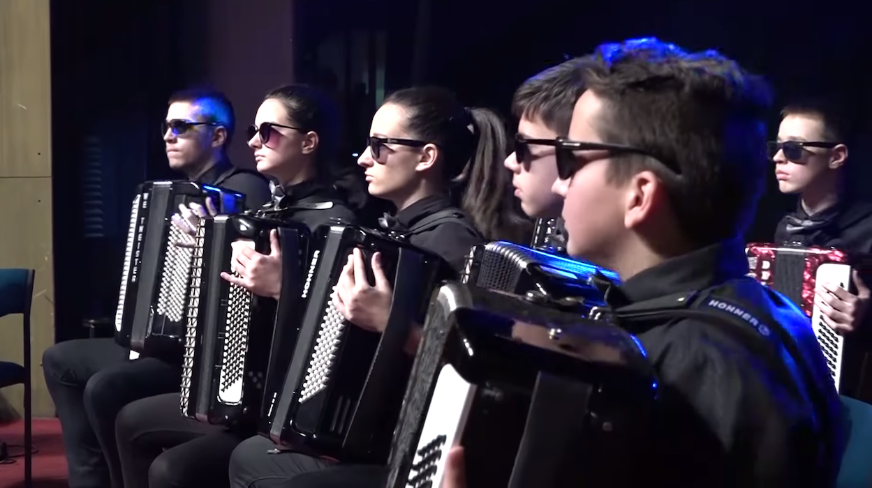 A Uniquely Choreographed Accordion Orchestra Cover of the Michael Jackson Song 'Billie Jean'
