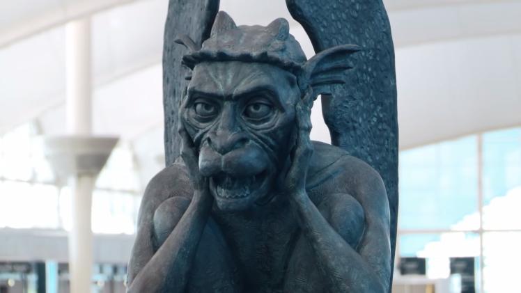 Chatty Gargoyle at Denver International Airport