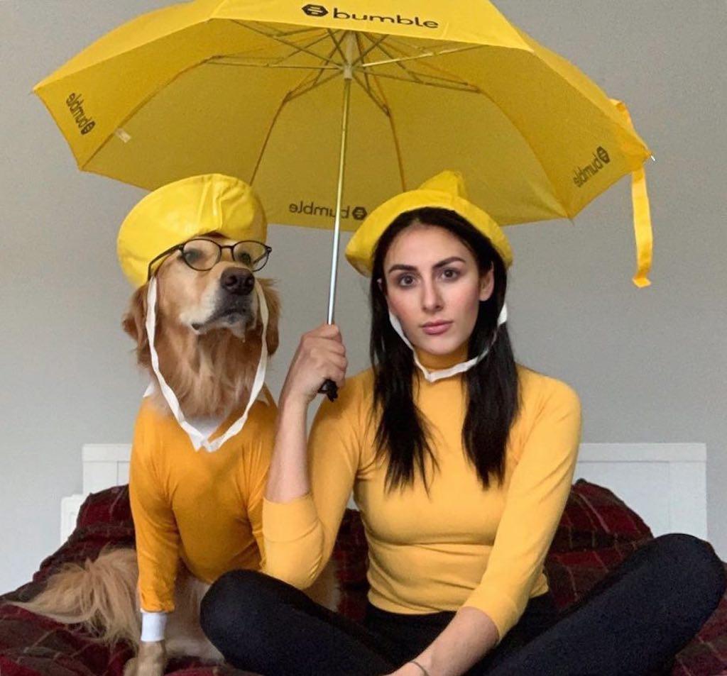 Hugo and Daphne Umbrella Yellow Rain Hats