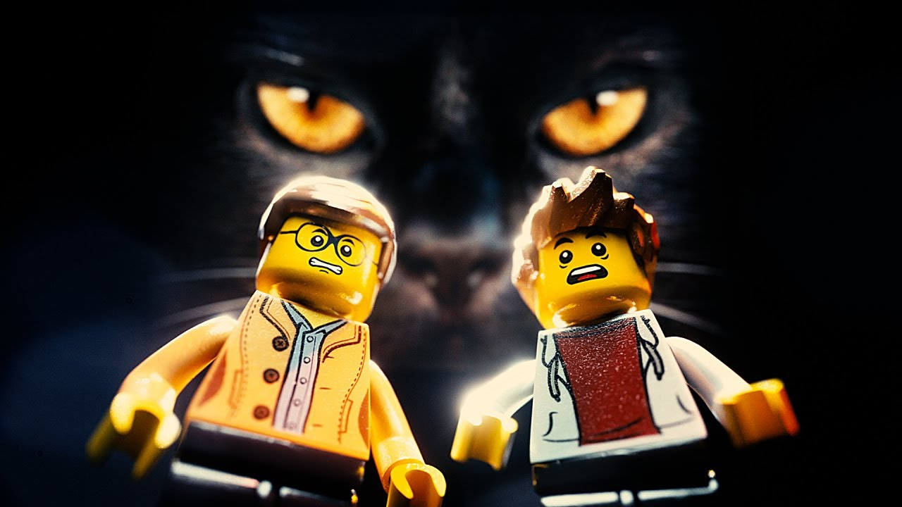 LEGO Minifigure Pals Try to Get Past Their Furry Feline Tormentor in 'The Great Escape' From the Playroom