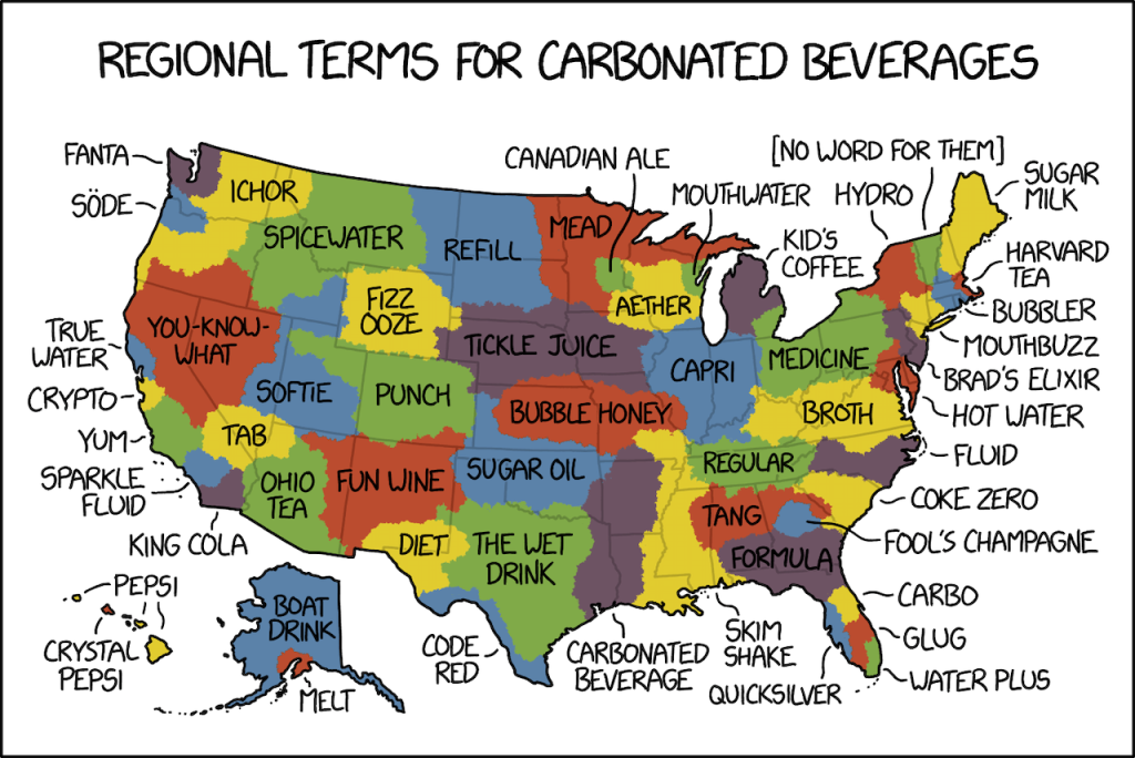 Regional Terms For Carbonated Beverages