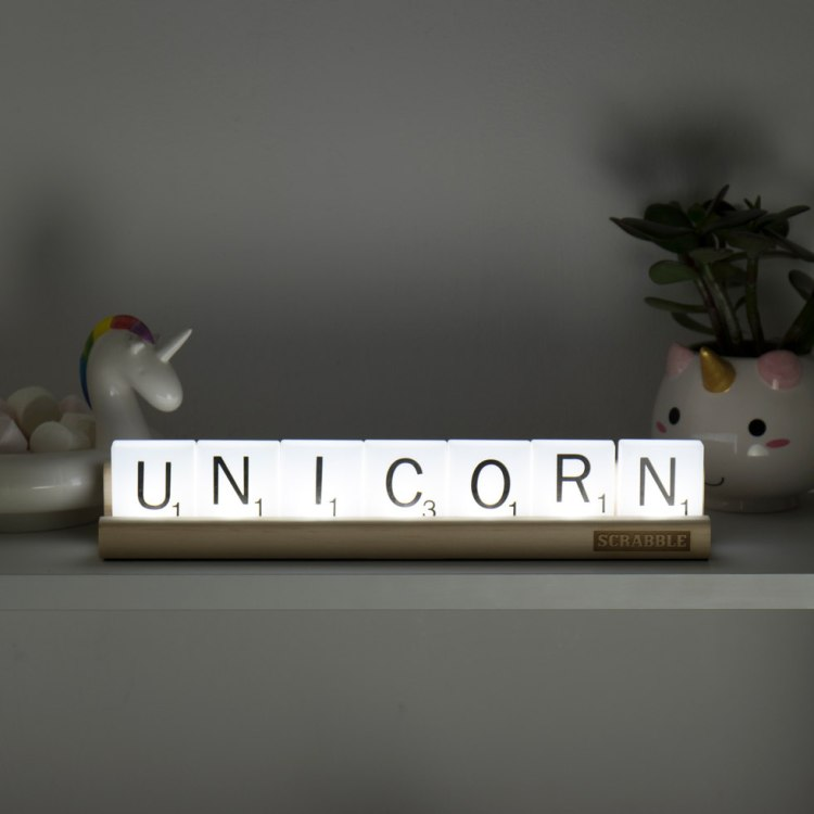 Unicorn Lighted Scrabble Tiles