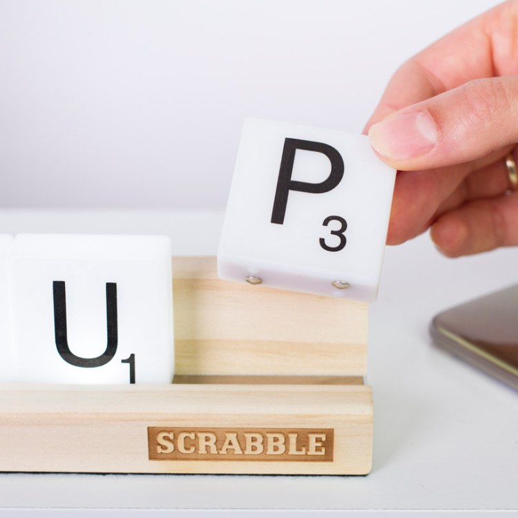 Up Lighted Scrabble Tiles
