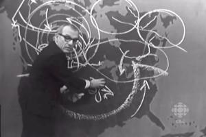 Weatherman Percy Saltzman Chalk Forecast 1967