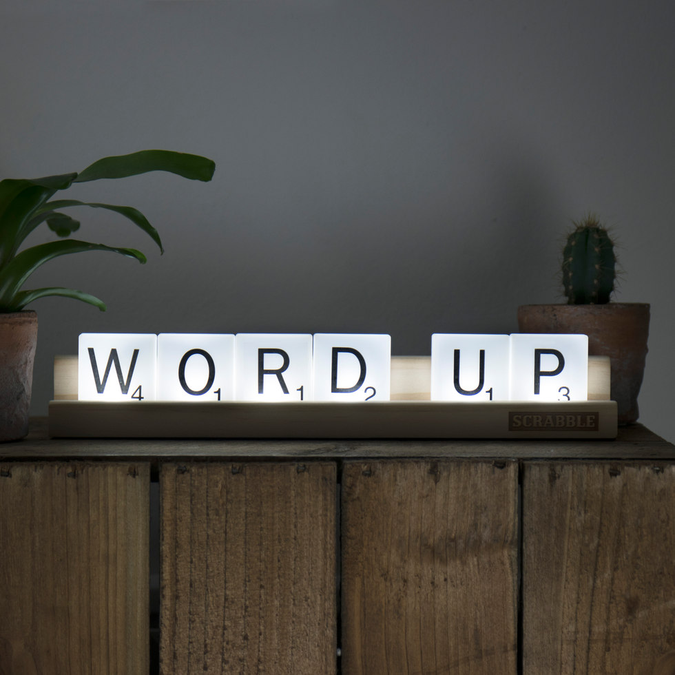 Word Up Lighted Scrabble Tiles