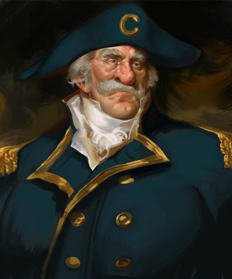 Cap'n Crunch Naval Portrait