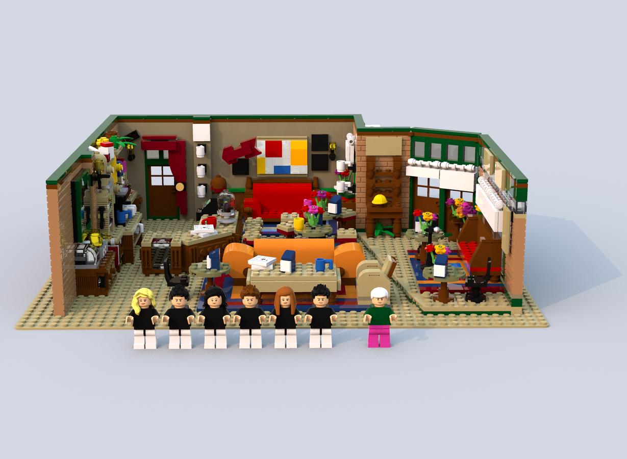 A LEGO Recreation of 'Central Perk', The Beloved Coffee ...