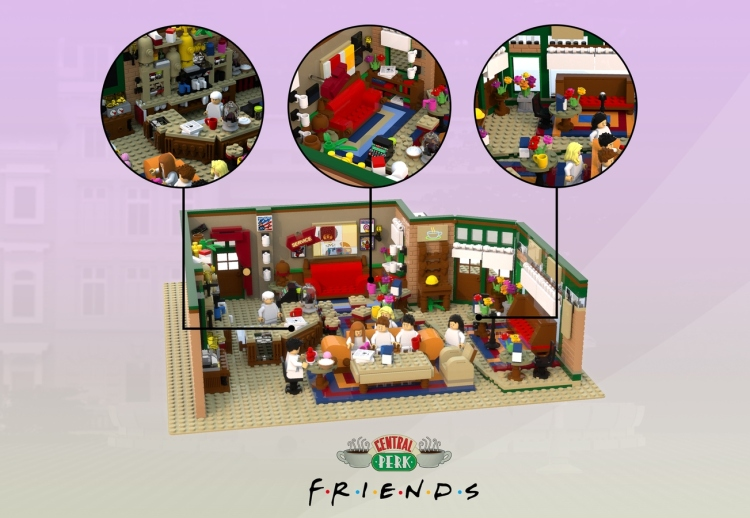 Friends Central Perk LEGO Cafe