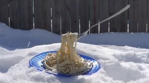 Frozen Spaghetti Minnesota Cold