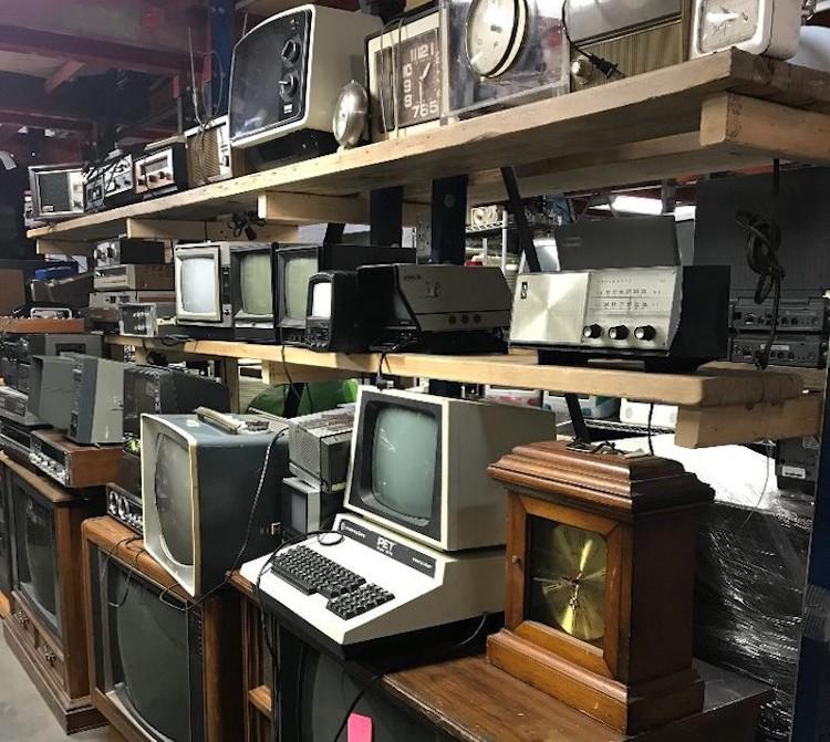 LES Ecology Center Gowanus Warehouse Electronic Props