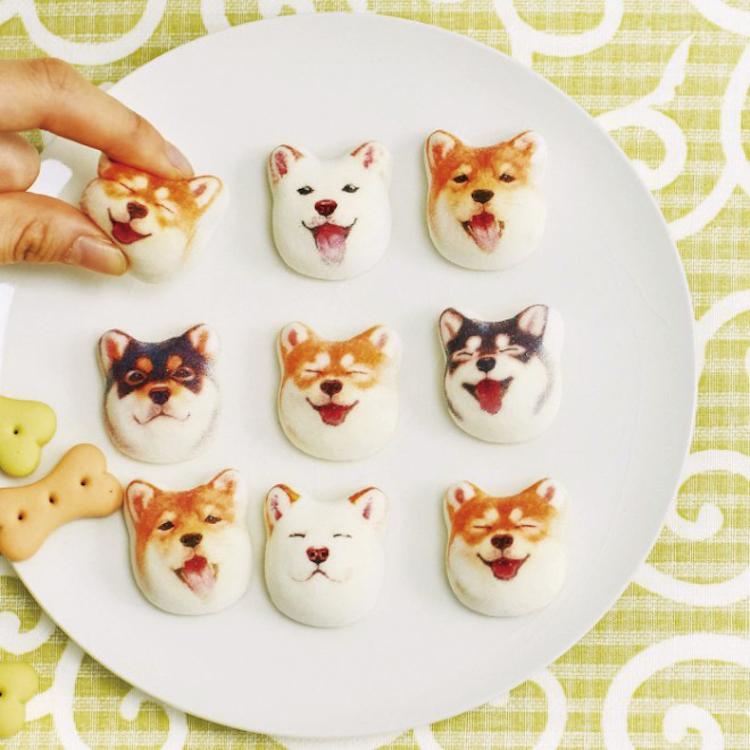 Shiba Inu Marshmallows Plate