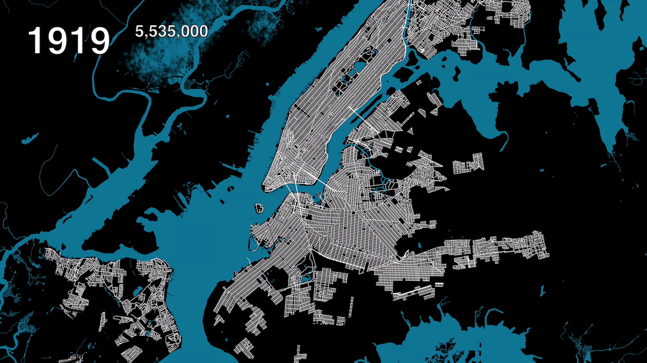 An Animated Map Showing Urban Growth in the Five Boroughs of ...