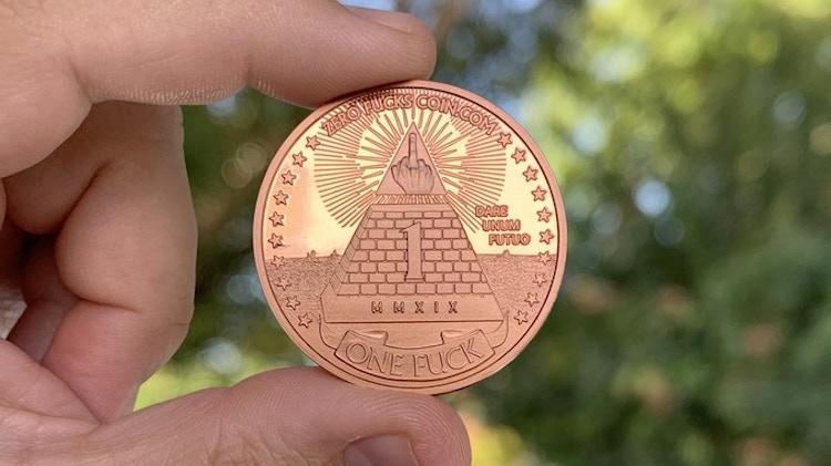 Zero Fucks Coins Copper