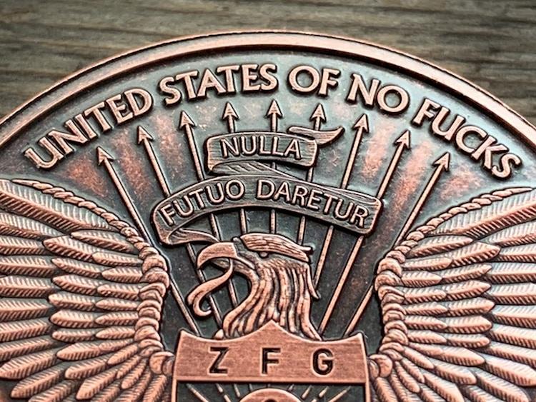 Zero Fucks Coins US of NF