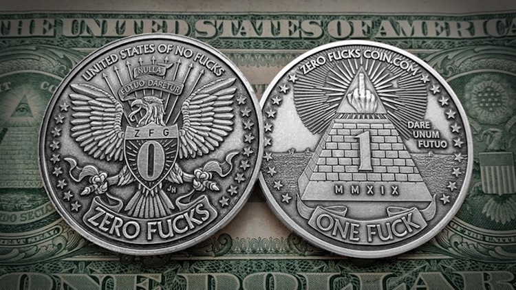 Zero One Fucks to Give Coins