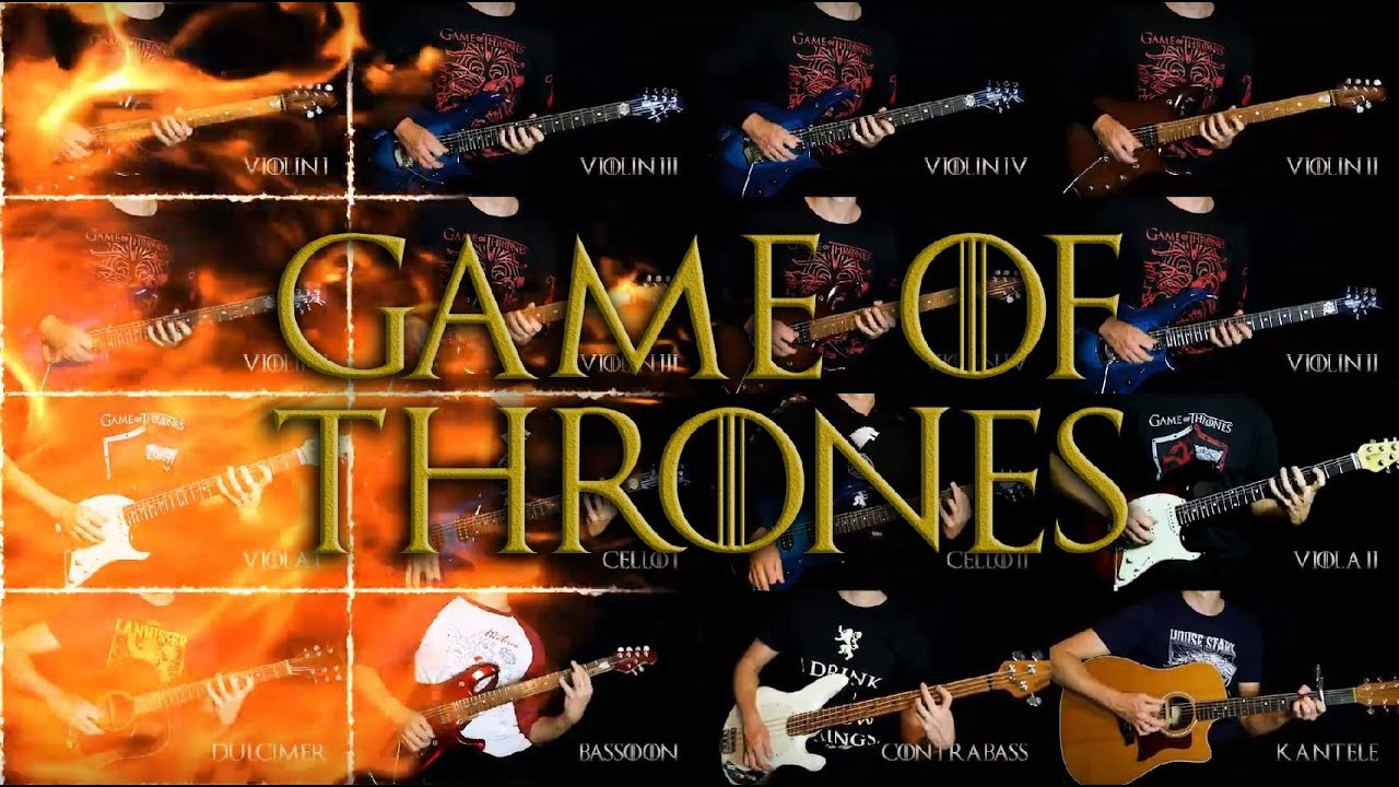 16 Guitars Battle for the Iron Throne in an Electrifying Cover of the Game of Thrones Theme