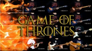 16 guitar Game of Thrones