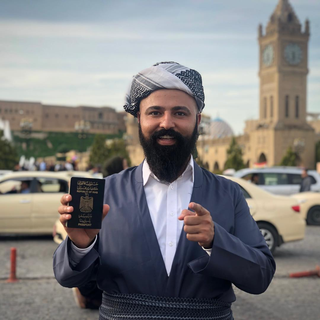 A Wonderfully Gregarious Iraqi Man Who Has Traveled to 70 Countries With Passport That Only Allows 30