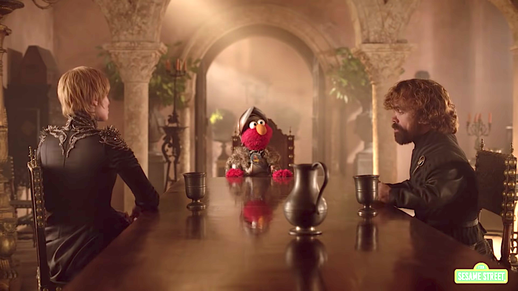 Elmo Convinces Cersei and Tyrion to Get Along Sesame Street