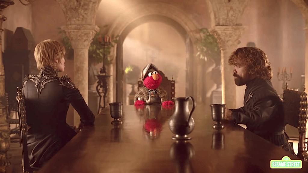 Elmo Convinces Cersei and Tyrion to Get Along Sesame Street