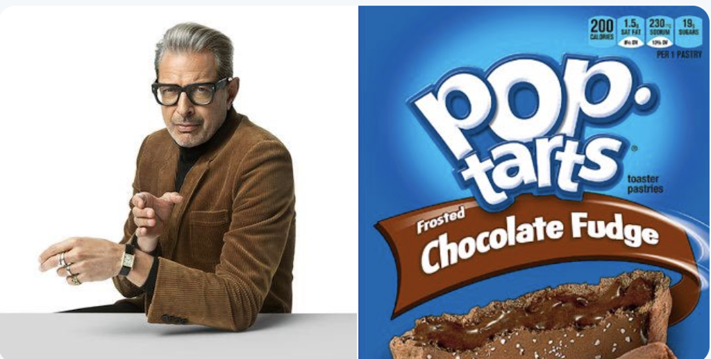 Jeff Goldblum's Wardrobes Matched Up With Pop-Tarts