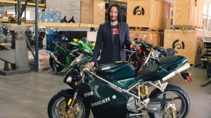 Keanu Reeves Ducati