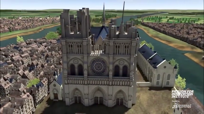 A Remarkable 3D Rendering Timelapse Showing How Notre Dame Cathedral in Paris Can Be Restored