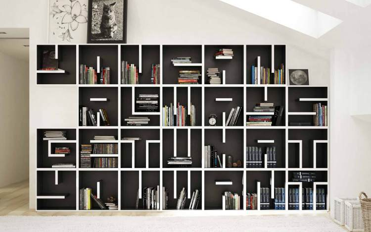 Saporiti ABC Modules Bookcase Wall