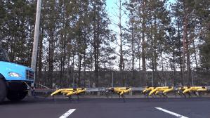SpotMini Robots Pull Truck