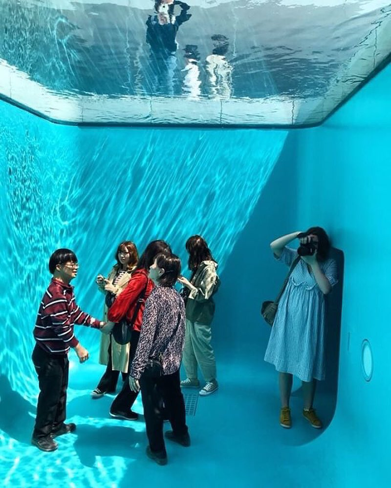 The Swimming Pool, A Brilliant Optical Illusion Art Installation Where People Can Socialize Under Water