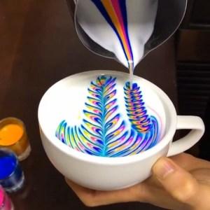 Vivid Color Latte Art