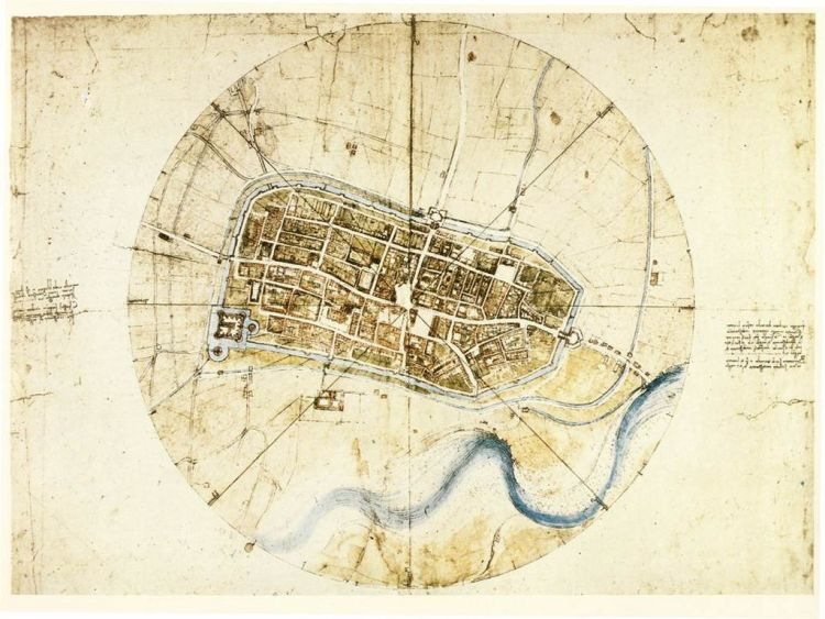 da Vinci Imola Map 1502