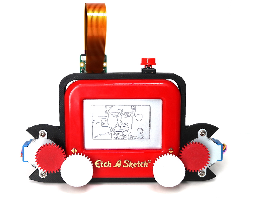 Etch-A-Snap, A Brilliant Raspberry Pi Powered Camera That Slowly Outputs Images as Etch-A-Sketch Drawings
