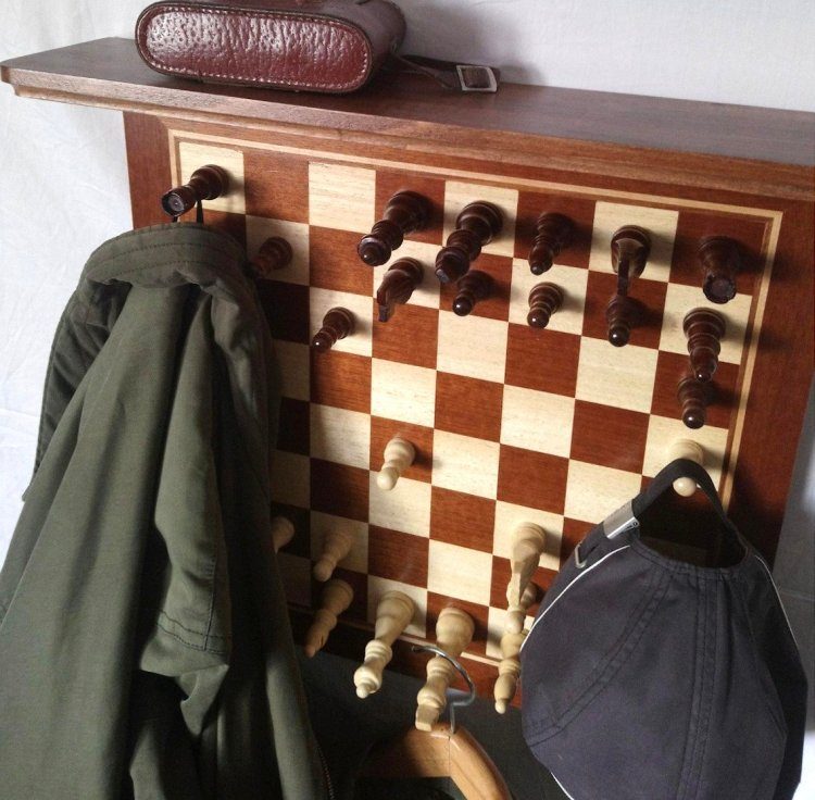 Chessboard Coat Hanger Shelf