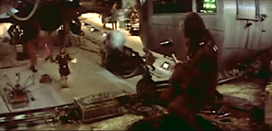Chewbacca speaks English on the set of Star Wars
