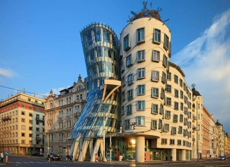 The Famous Dancing House of Prague by Frank Gehry