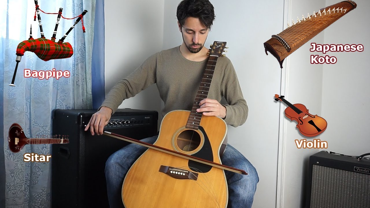 Musician Makes His Guitars Sound Like Different Instruments With a Variety of Creative Techniques