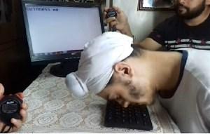 Davinder Singh Typing With Nose