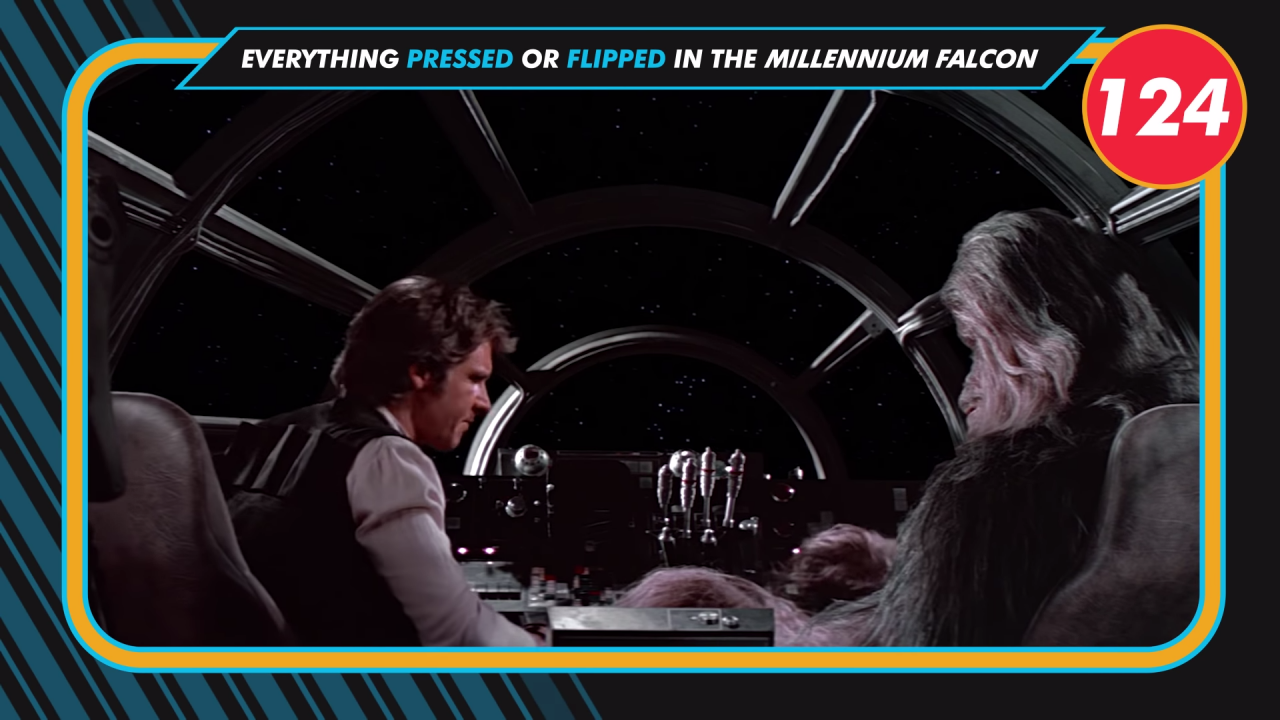 The Number of Times a Button or Lever Has Been Pressed or Flipped on the Millenium Falcon in Star Wars