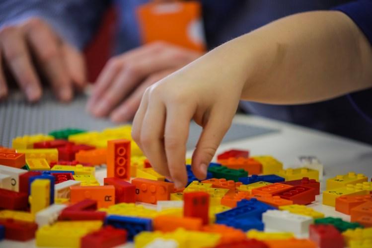 LEGO Braille Bricks Childs Hands