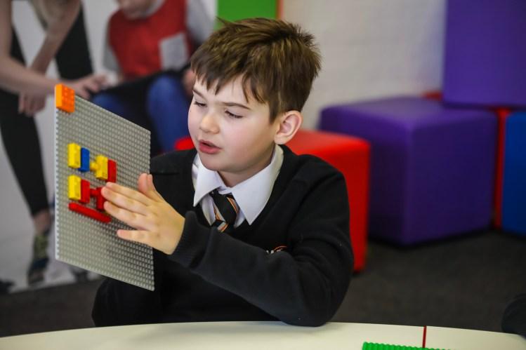 LEGO Braille Bricks Young Boy
