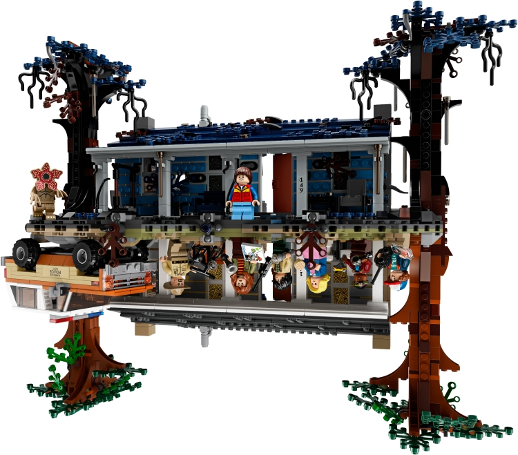 An Incredible 'Stranger Things' Byers' Home LEGO Set That Can Be Flipped Over to 'The Upside Down'