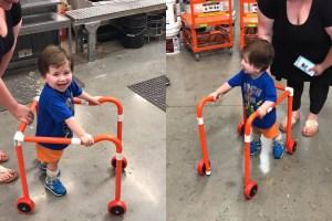 Little Boy Walker