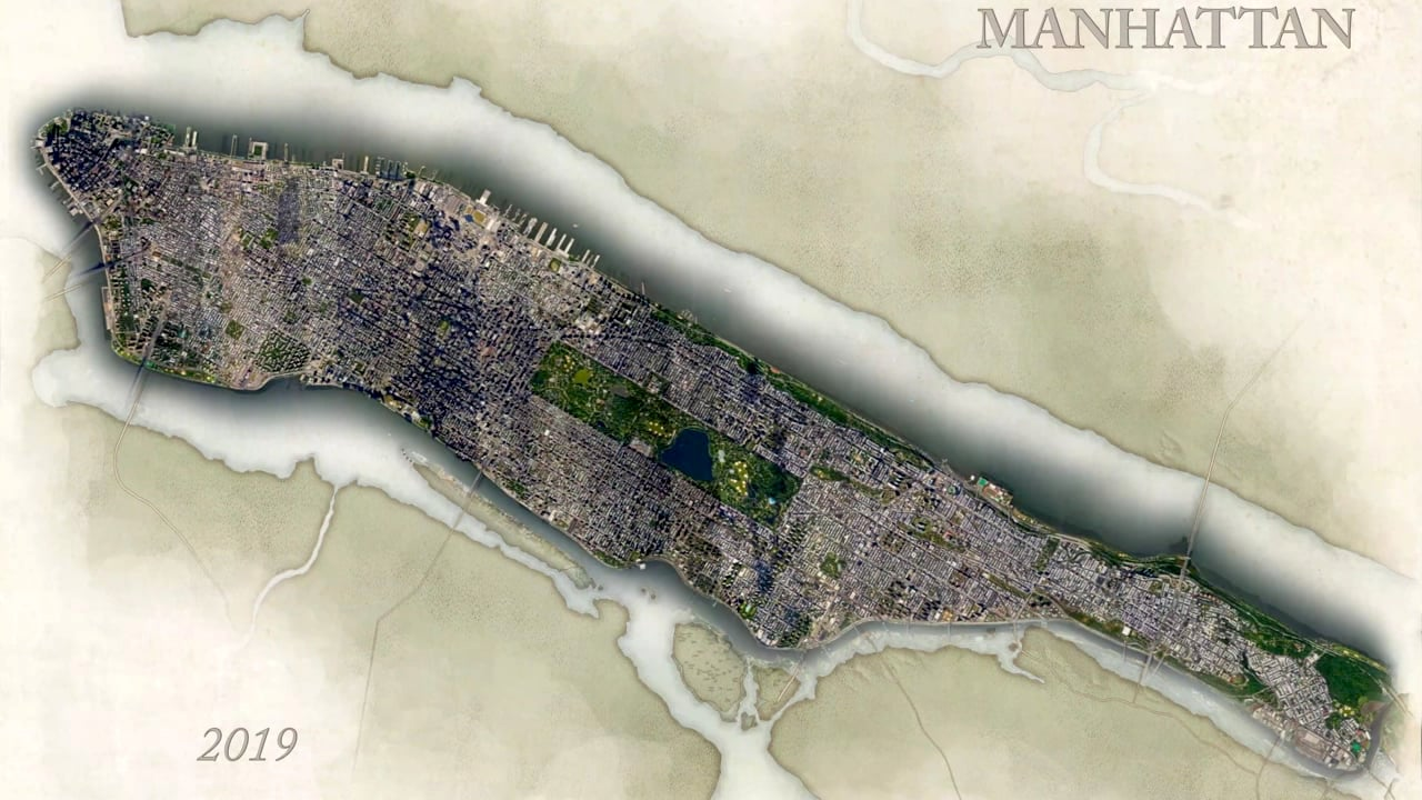 An Incredible Visualization of the Explosive Growth on the Island of Manhattan Over the Course of 400 Years