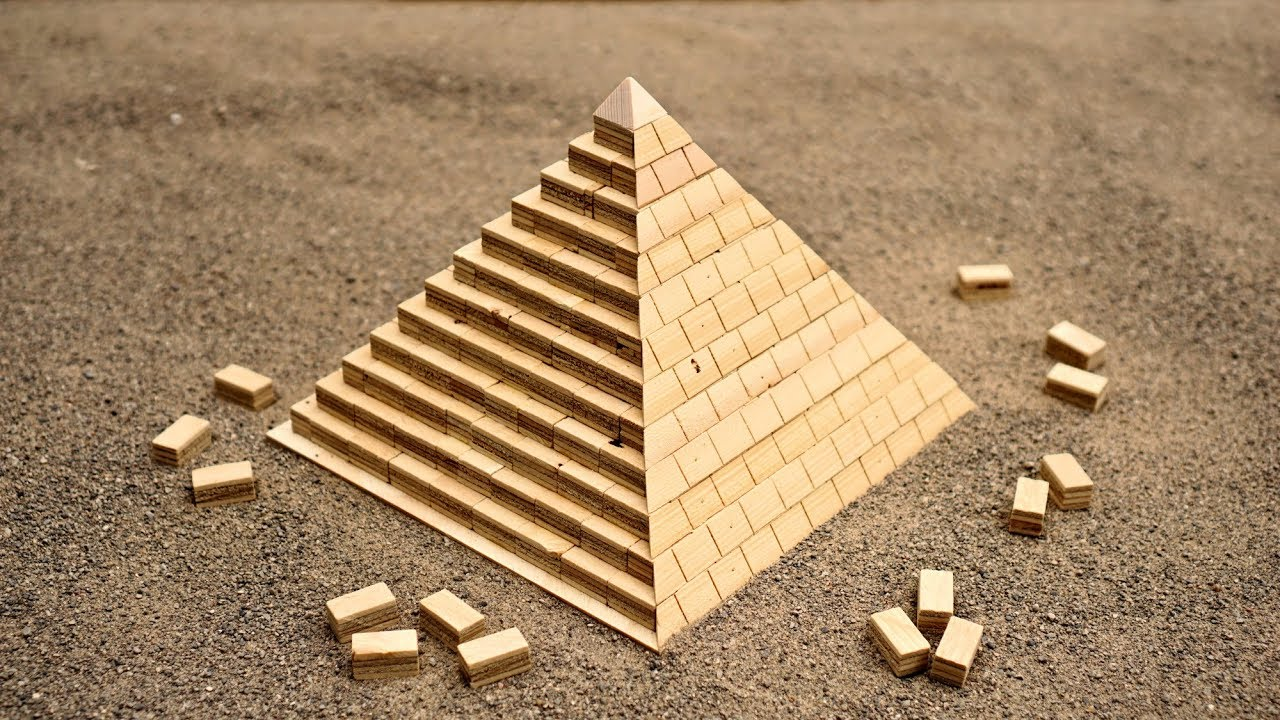 Craftsman Builds a Miniature Great Pyramid of Giza Out of Wood to Understand Its Structural Engineering
