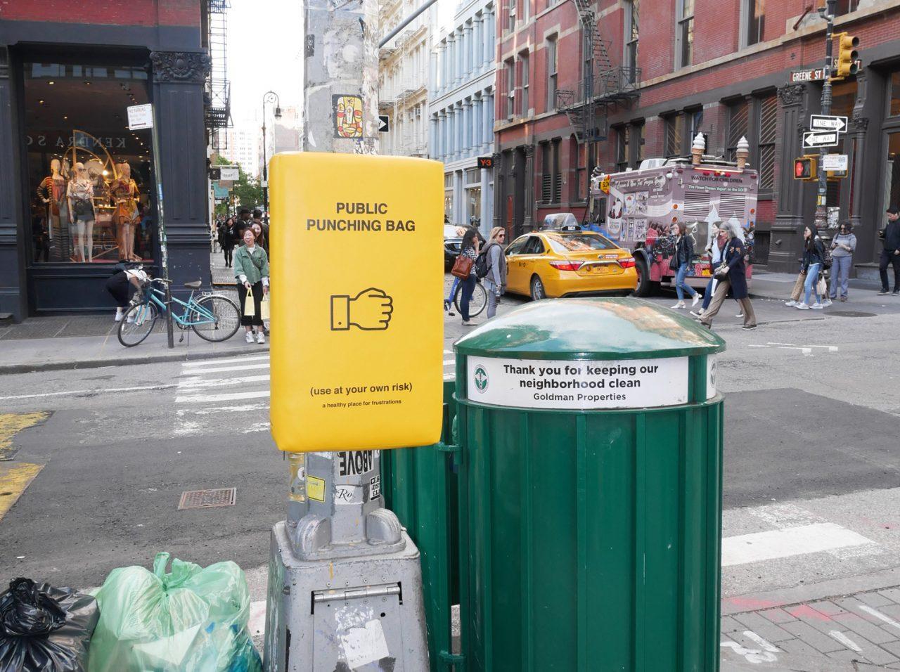 Afbeeldingsresultaat voor yellow punching bags manhattan