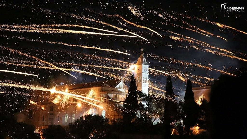 Rouketopolemos Chios Fireworks Easter